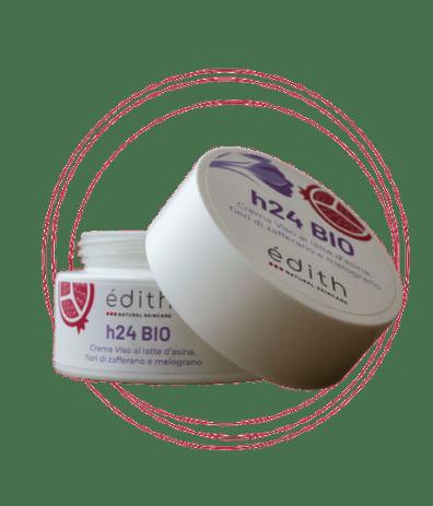 crema viso 24h bio aperta edithcosmesi cosmetici a base di zafferano e latte d'asina
