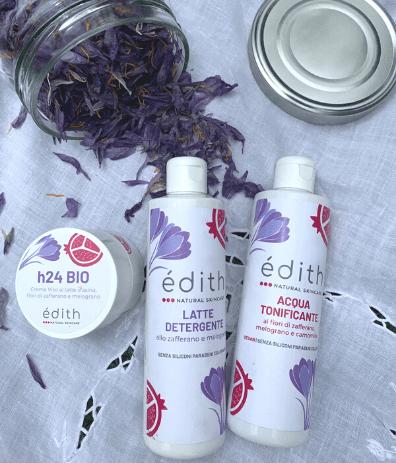 edith prodotti kit viso erba edithcosmesi cosmetici a base di zafferano e latte d'asina